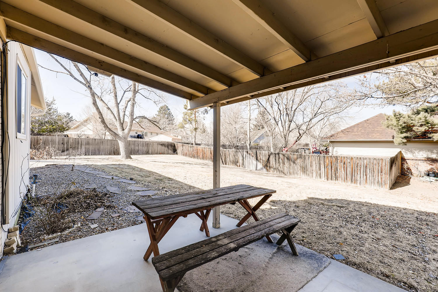NEW LISTING: 1737 Harvard St Longmont CO Back Yard & Covered Porch