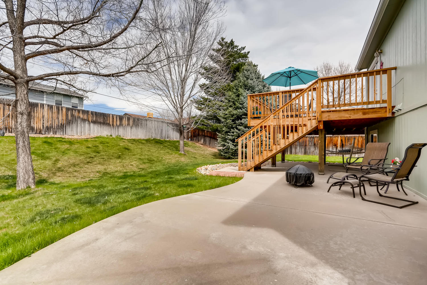 REAL ESTATE LISTING: 8725 S Yukon St Littleton CO Patio & Deck