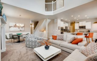 REAL ESTATE LISTING: 2182 Steppe Dr Longmont Great Room & Dining Room
