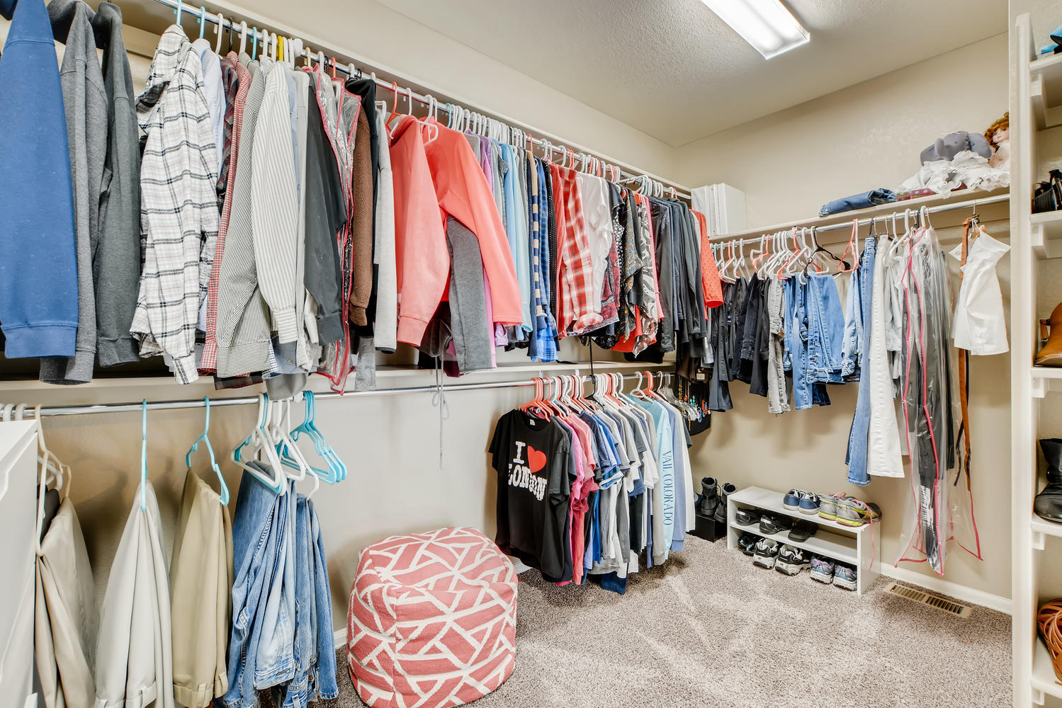 REAL ESTATE LISTING: 2182 Steppe Dr Longmont Master Closet