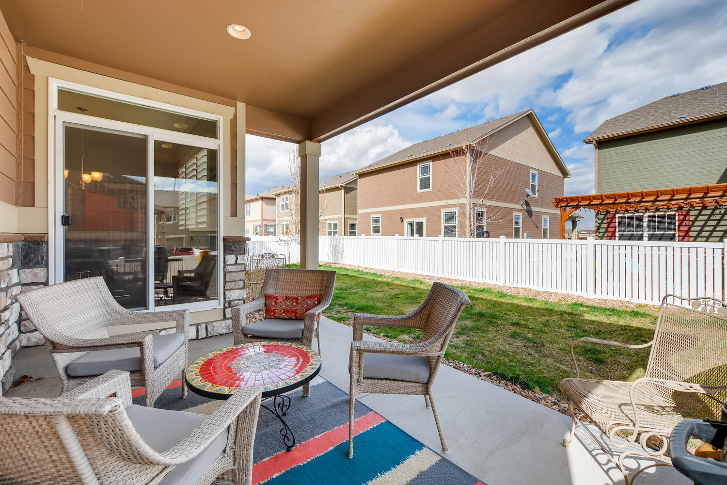 REAL ESTATE LISTING: 2182 Steppe Dr Longmont Covered Back Porch