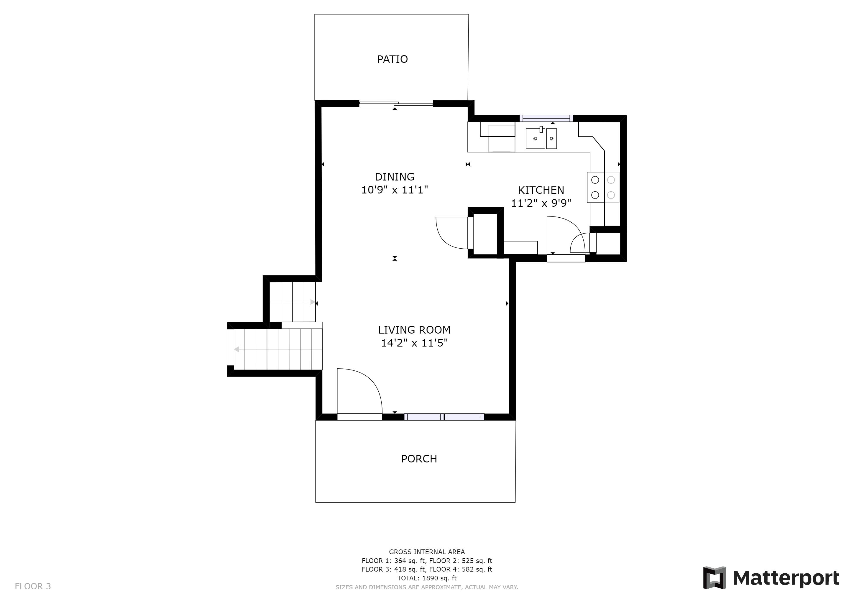 REAL ESTATE LISTING: 4421 Eugene Way Denver Main Floor Plan