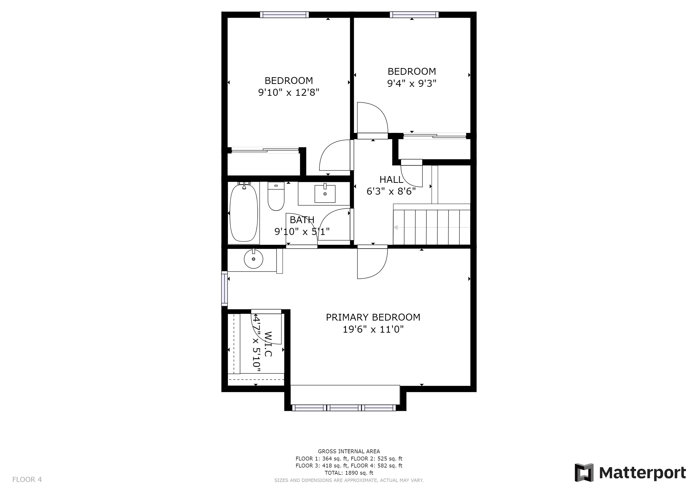 REAL ESTATE LISTING: 4421 Eugene Way Denver Upper Floor Plan