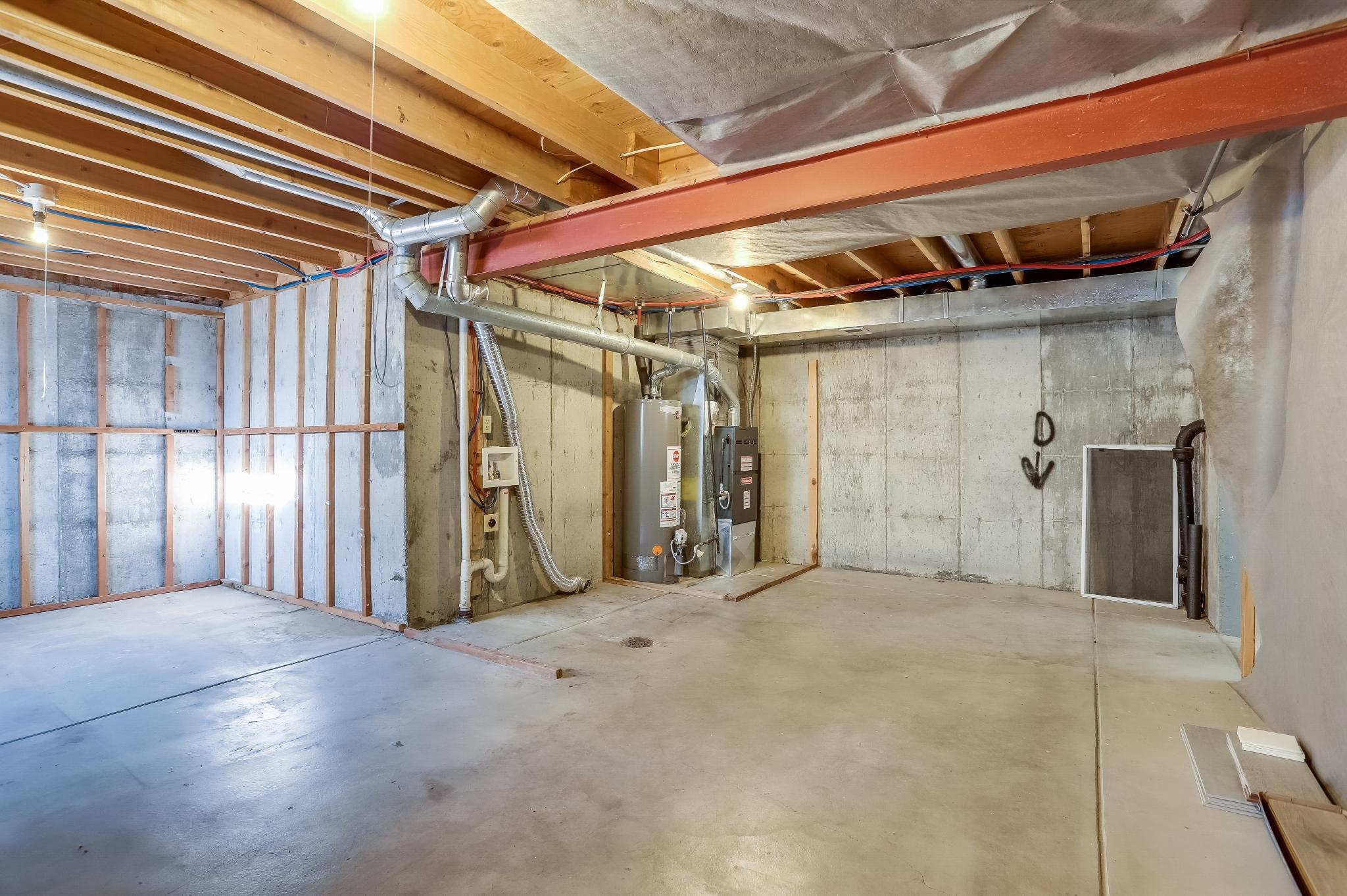 REAL ESTATE LISTING: 4421 Eugene Way Denver Unfinished Basement