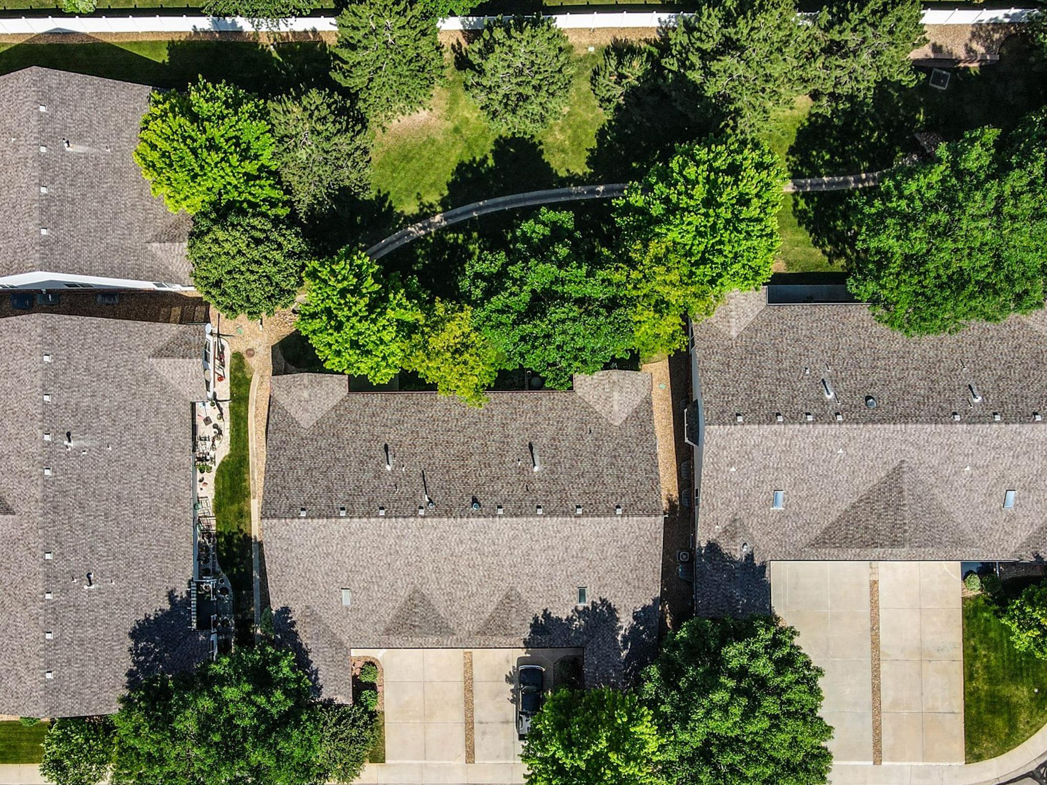 REAL ESTATE LISTING: 1730 Grove Ct Longmont Aerial Back Yard